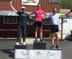 Caleb Bender on the podium. PCC photo credit