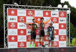 Aeden and Caleb on the podium. Picture by J. Fellman