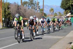 Alex at the front of the peloton. Photo: M. Higginson